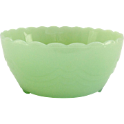 Anchor Hocking Jadeite Footed Draped Bulb Bowl