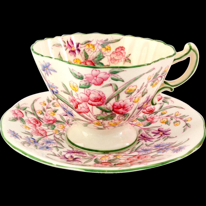 Hammersley England Bone China Bridal Rose Teacup and Saucer