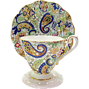 Royal Standard Bone China #1859 Multi Color Paisley Chintz Teacup and Saucer