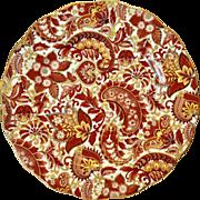 Royal Standard Bone China #1445 Rust-Brown Paisley Chintz Luncheon Plate