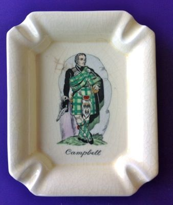 Scotsman Campbell Clan Ashtray Plichta London England