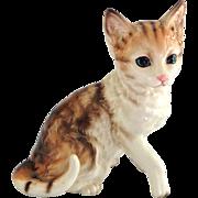 Vintage Blue-Eyed Tiger Cat Figurine