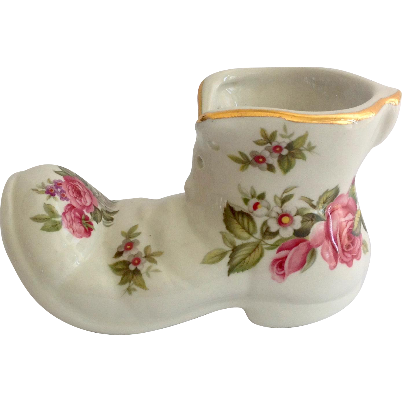 James Kent Old Foley Harmony Rose Shoe Planter
