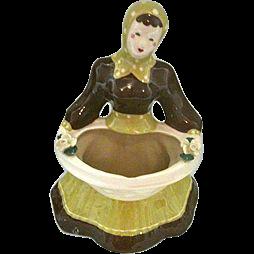 Kim Ward 1940s California Pottery Baby  Carmen Vase