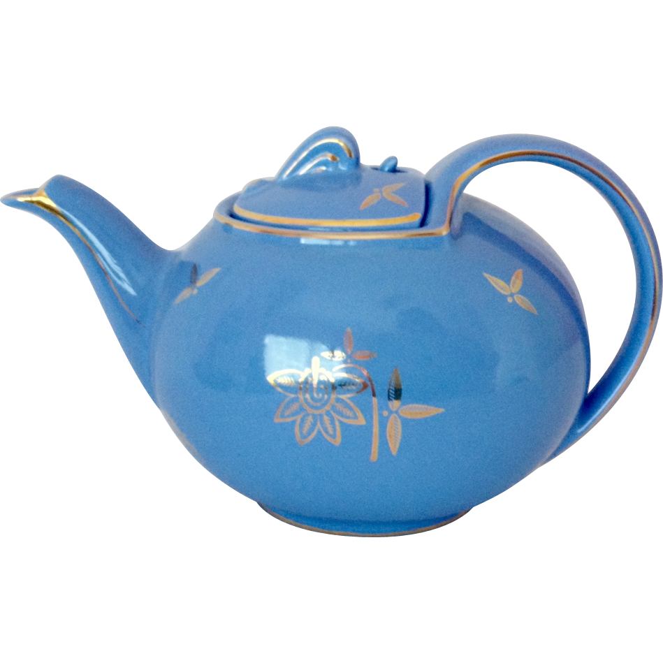 Hall Hook Cover Cadet Blue Standard Gold 0749 Teapot