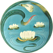 Zell Baden Germany Majolica Water Lily Plate
