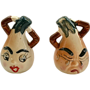 Anthropomorphic Onion Salt and Pepper Shakers Made in Japan