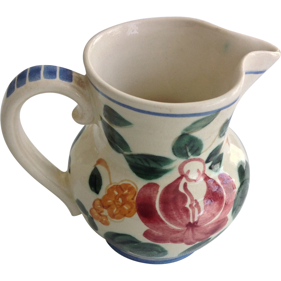 Red Wing Orleans Provincial Flowered Creamer