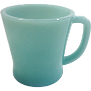 Anchor Hocking Fire King 1950s Turquoise Blue Mug