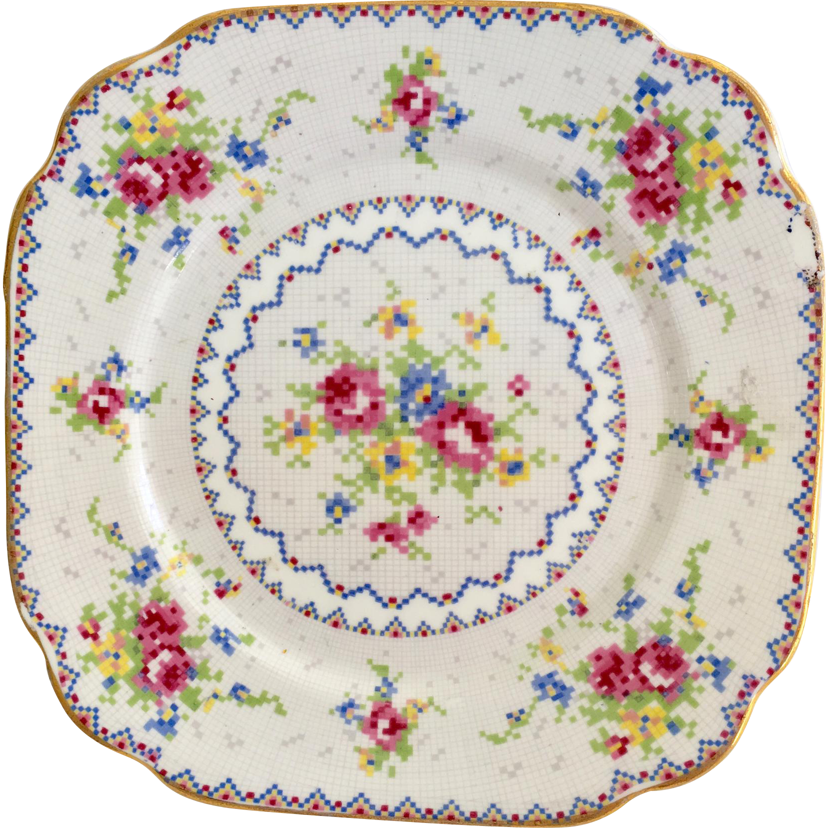 Royal Albert Bone China Petit Point 6-5/8 inch Dessert Plate