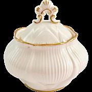 Royal Albert Bone China Avalon White with Gold Trim Covered Sugar Bowl