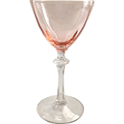 Fostoria Elegant Glass Blank 5098 Rose Pink on Crystal Stem Cocktail