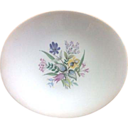 Eva Zeisel 'Bouquet' HallCraft Mid Century Bread and Butter Plate and Two Footed Cups