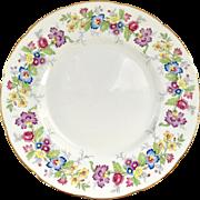 Coalport 'Maytime' Floral Rim Dinner Plate