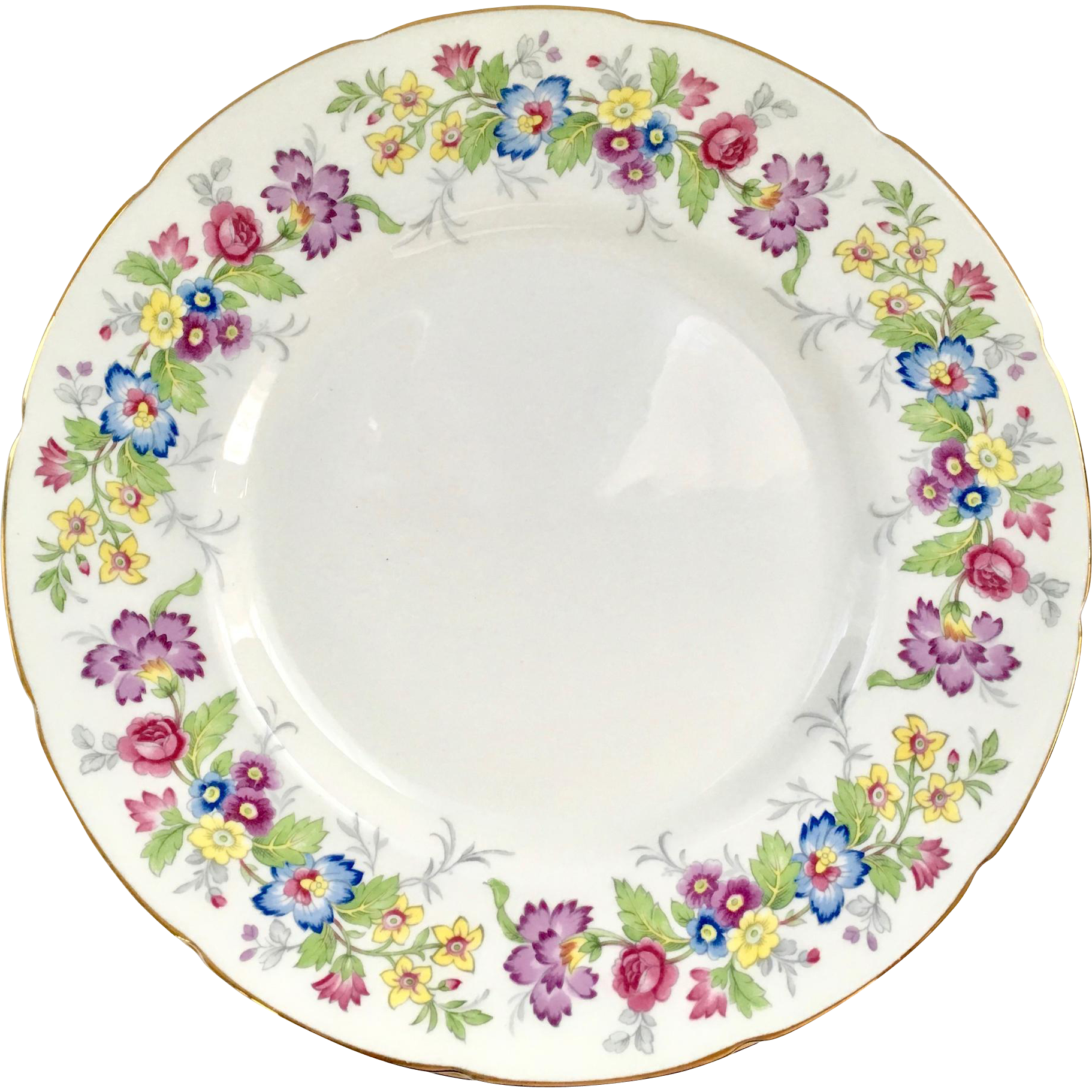 Coalport Bone China Maytime Floral Rim Dinner Plate