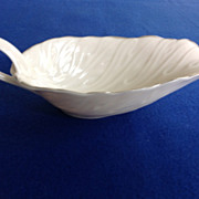 Lenox Embossed Eggshell Colored Open Sauceboat - Colony Collection