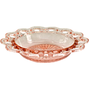 Old Colony Non-Ribbed Pink Depression Glass Cereal Bowl