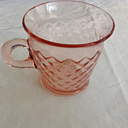 Imperial Diamond Quilted Pink Depression Glass Cup - Shipping Included!