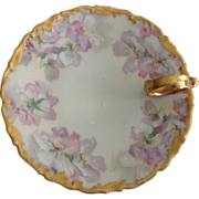 Tressemann and Vogt (T&V) Limoges Floral Lemon Dish