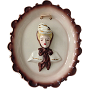 Florence Ceramics of California Cameo Plaque with Plumes Down
