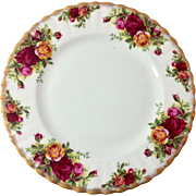 Royal Albert Vintage 1960s Old Country Roses Bone China Salad Plate