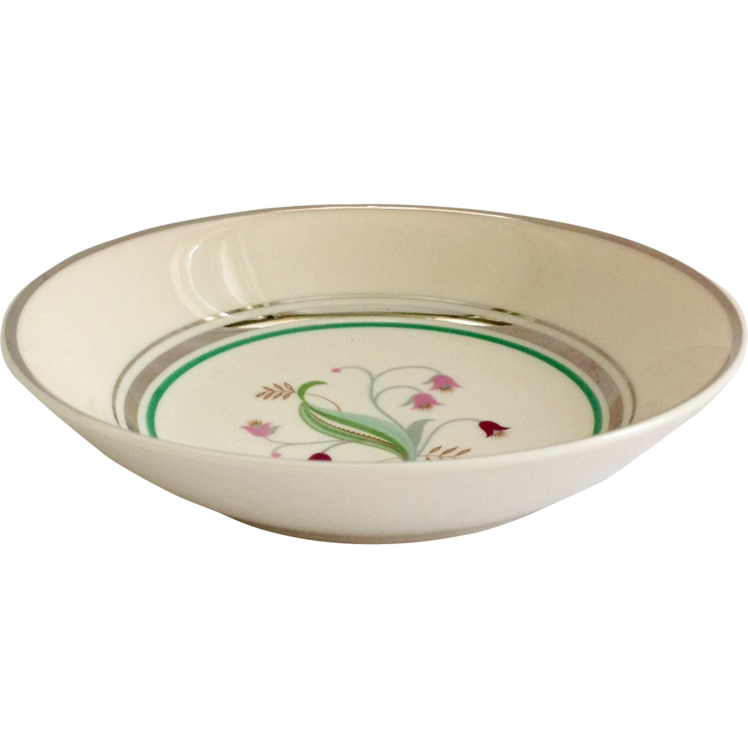 Syracuse China Coralbel Platinum Trim Fruit/Sauce Bowl