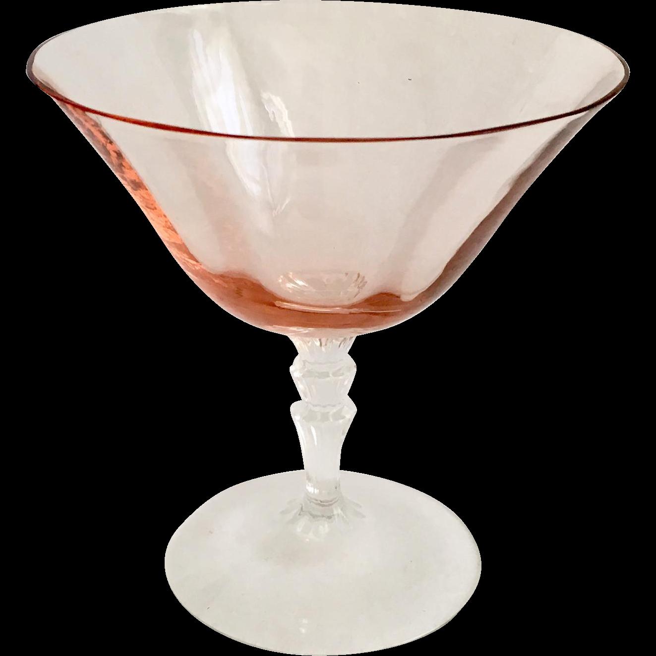 fostoria elegant depression glass pink on crystal