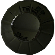 New Martinsville Number 34 Addie Black Depression Glass Luncheon Plate