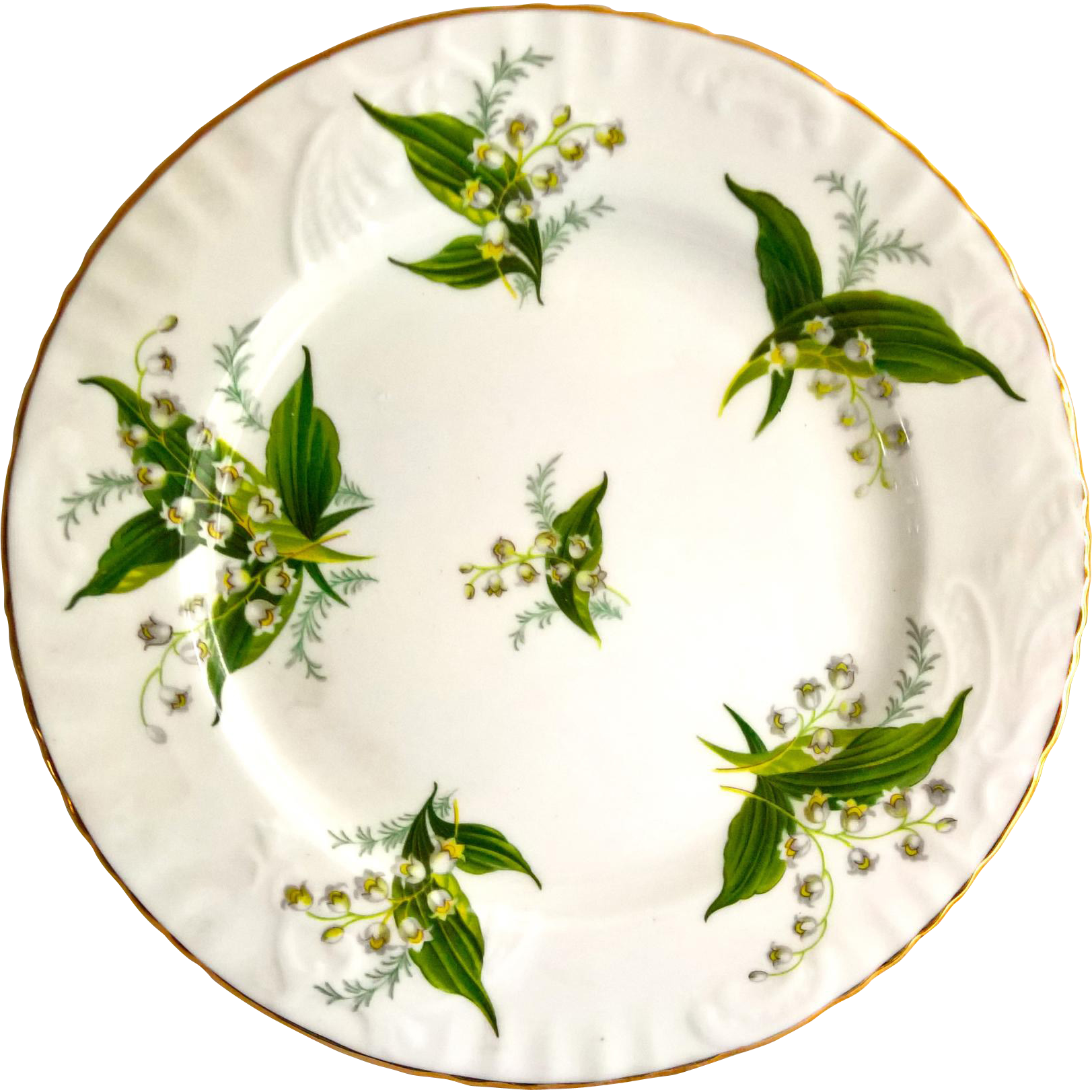 Hammersley England Bone China Lily of the Valley Luncheon Plate