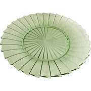 Jeannette Sierra Pinwheel Green Depression Glass Dinner Plate