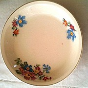 Petit Point Pie Plate Circa 1940s Cronin China Ohio