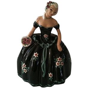 California Pottery S-Quire Ceramics by Zaida - Lady in Black Gown