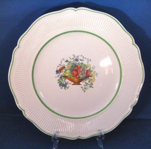 1920s Royal Doulton Tazza Dinner Plate with Green Bands