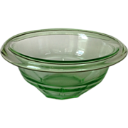 Hazel Atlas Rest Well Depression Glass Small Green Mixing Bowl
