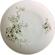 Vintage American Dinnerware Unmarked Apple Blossom Floral Dinner Plates - Set of Three