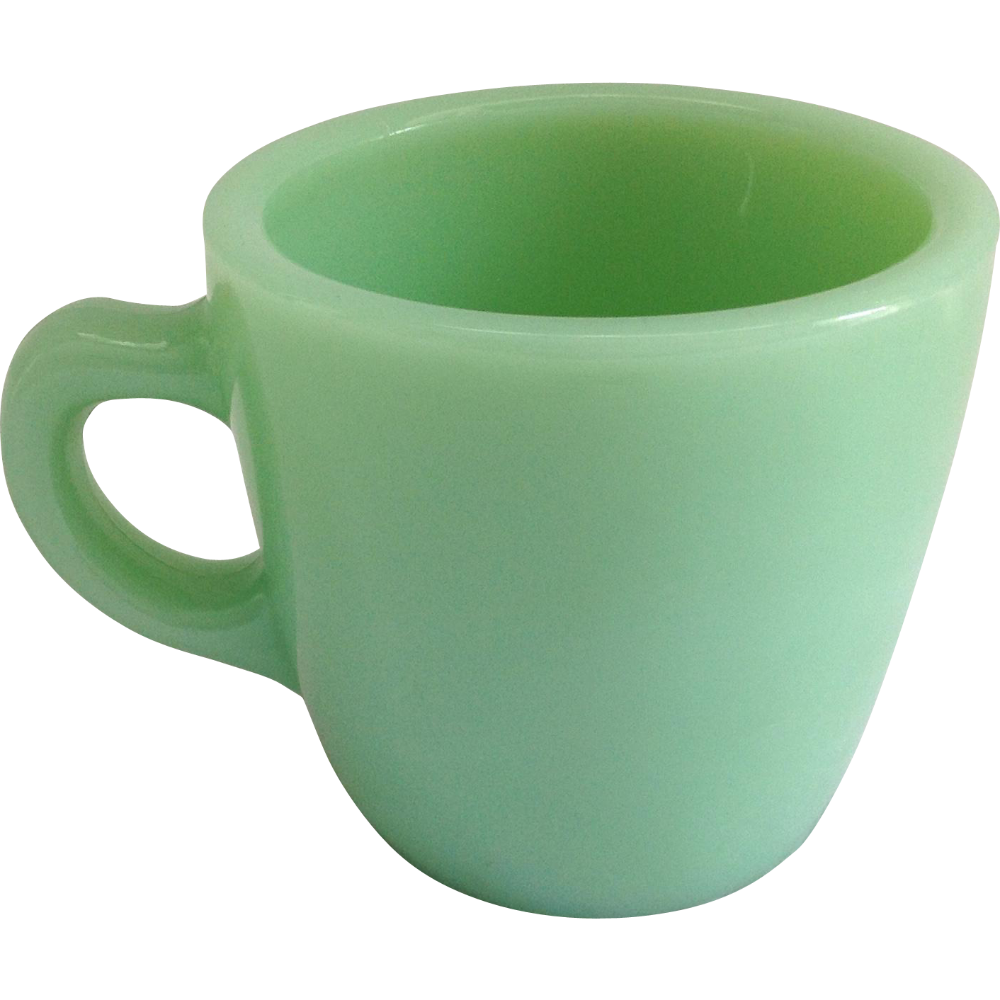 Fire King Restaurant Ware Heavy Jadeite 6-ounce Cup G215
