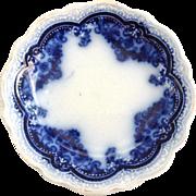 Johnson Brothers England Georgia Flow Blue Butter Pat Circa 1913