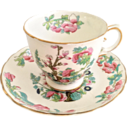 Tuscan England Bone China C9977 Indian Tree Teacup and Saucer