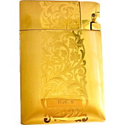 Elgin American Lite-O-Matic Gold Ladies' Combined Lighter and Cigarette Case