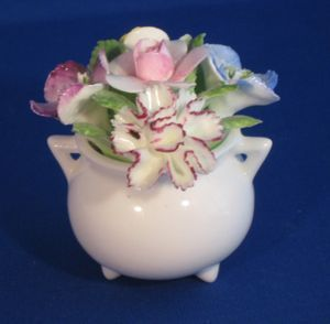 Royal Doulton Bone China Floral Arrangement Figurine