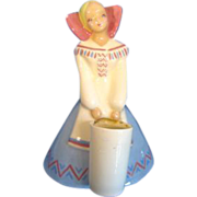 Yona Ceramics California Pottery Southwestern Girl Vase/Figurine
