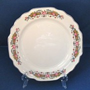 Set of Six WS George Flower Rim Lido Bread and Butter Plates