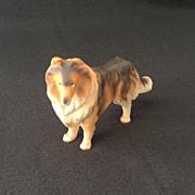 Standing Collie Dog Porcelain Figurine Marked Japan