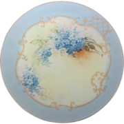 Thomas 'Sevres' Bavaria Hand-Painted Forget-Me-Nots Plate Signed 'A Burton'