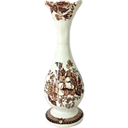 Post WWII Royal Staffordshire Clarice Cliff Tonquin Brown Urn Shaped Bud Vase
