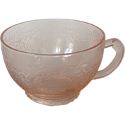 Florentine No. 1 'Poppy' Pink  Depression Glass Cup