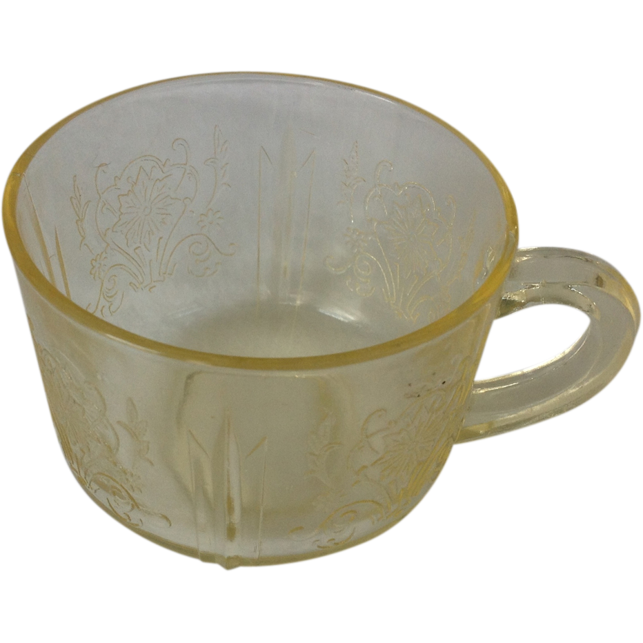 US Glass Primo Yellow Depression Glass Cup