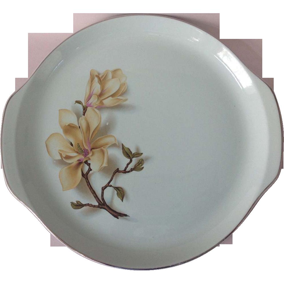Universal Southern Garden Ballerina Mist Mint Green Magnolia Chop Plate