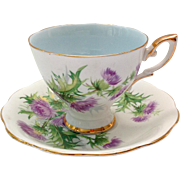 Royal Standard Scots Emblem Thistle Bone China Teacup and Saucer