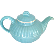 Hall China 1940s Pastel Blue Murphy Teapot from Victorian Series